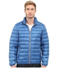 Tumi Patrol Packable Travel Puffer Jacket Ocean Men's Coat Blue