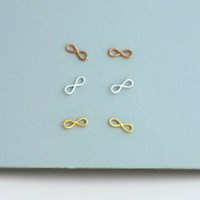 Posh Totty Designs 18Ct Rose Gold Plated Infinity Stud Earrings