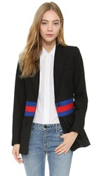 Smythe Tailored Blazer Black W Redandcobalt