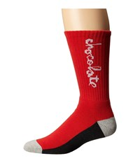 Huf X Choc Crew Socks Red Crew Cut Socks Shoes