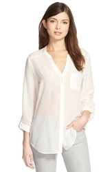 Trouve Women's Trouve Silk Blouse Ivory Cloud