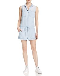 Rails Emerson Collared Chambray Romper Light Vintage Wash