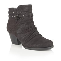 Lotus Philox Zip Up Ankle Boots Black