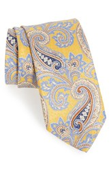 J.Z. Richards Men's Paisley Silk Tie Yellow