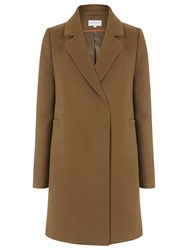 Warehouse Clean Double Breasted Coat Tan
