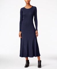 G.H. Bass And Co. Waffle Knit Maxi Dress Deep Navy Combo