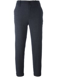 Closed Slim Cropped Trousers Blue