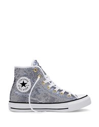 Converse Chuck Taylor All Star Holiday Party High Top Sneakers Silver