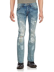 Cult Of Individuality Straight Leg Distressed Jeans Sawyer