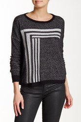 Lilla P Dropped Shoulder Jewel Neck Sweater Black