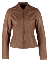 Marc O'polo Leather Jacket Summer Taupe