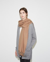 Acne Studios Canada Narrow Scarf Caramel Brown