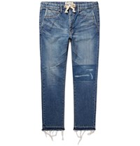 Remi Relief Reief Sim Fit Distressed Denim Jeans Bue Blue