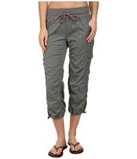 The North Face Aphrodite Woven Pull On Capri Sedona Sage Grey Women's Capri Gray