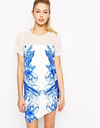 Style Stalker Stylestalker Run Away With Me Print T Shirt Dress With Asymmetric Hem Multi