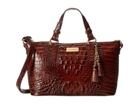 Brahmin Mini Asher Pecan Satchel Handbags Brown