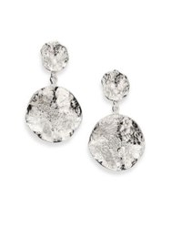 Coomi Silver Serenity Diamond And Sterling Silver Flower Drop Earrings