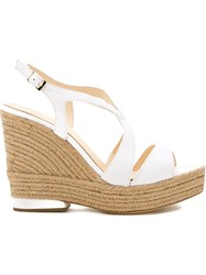 Paloma Barcelo Wedged Sandals White