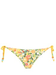 Stella Mccartney Yellow Citrus Lycra Tie Bikini Bottoms
