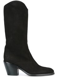 Chloe Cowboy Style Boots Black