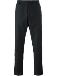 Oamc Pleated Tapered Trousers Black