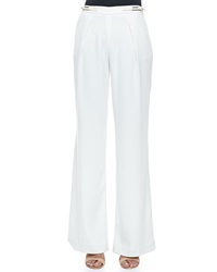 Halston Heritage Wide Leg Trousers With Buckle Tabs
