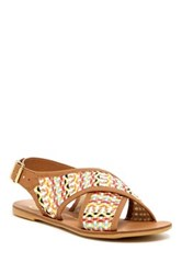House Of Harlow Izzy Flat Leather Sandal Multi