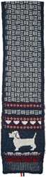 Thom Browne Navy Knit Hector Scarf