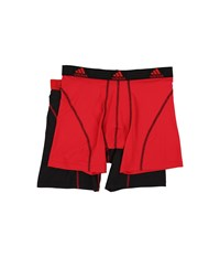 Adidas Sport Performance Climalite 2 Pack Boxer Brief Real Red Black Black Real Red Men's Underwear