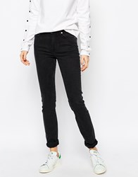 Weekday Tuesday Mid Rise Slim Leg Jeans Black