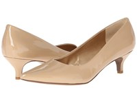 Trotters Paulina Nude Patent Leather Women's 1 2 Inch Heel Shoes Beige