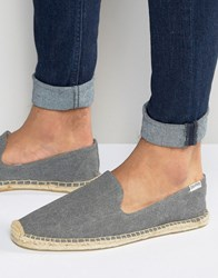 Soludos Washed Canvas Espadrilles Grey