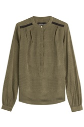 Zadig And Voltaire Silk Blouse Green