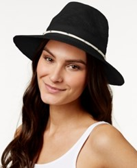 Vince Camuto Metal And Rope Panama Hat Black