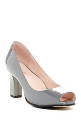 Taryn Rose Fierce Peep Toe Pump Gray