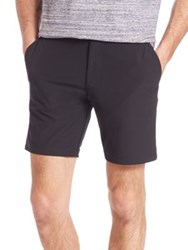Saks Fifth Avenue Hybrid Stretch Shorts Black True Red State Mela Slate Mela