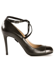 Ritch Erani Nyfc Metallic Captoe Pumps Grey