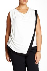 Mynt 1792 The Carine Cowl Neck Blouse Plus Size White