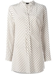 Joseph Striped Blouse Brown