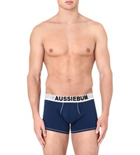 Aussiebum Stretch Cotton Trunks Navy