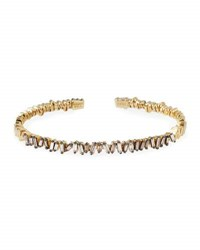 Suzanne Kalan Champagne Baguette Diamond Bangle In 18K Yellow Gold