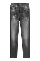 7 For All Mankind Seven For All Mankind Distressed Skinny Jeans Black