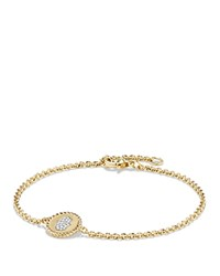 David Yurman Cable Collectibles Hamsa Bracelet In 18K Gold White Gold