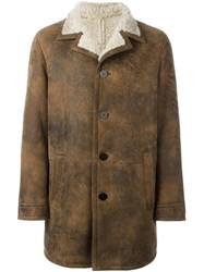 Neil Barrett Shearling Coat Brown