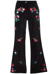 Vivetta Embroidered Flared Trousers Black
