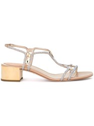 Rene Caovilla 'Strass' Low Sandals Metallic