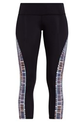 Mara Hoffman 3 4 Sports Trousers Voyager Combo Black Multi