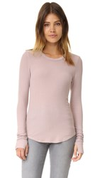 Feel The Piece Aida Ribbed Long Sleeve Tee Rose Ash