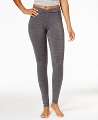 Cuddl Duds Softwear Stretch Leggings Tonal Stripe