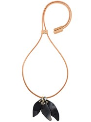 Marni Petal Pendant Necklace Black